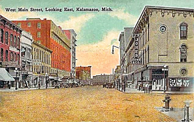 1907 KALAMAZOO, MI WEST MAIN STREET EAST VIEW