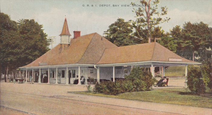 1913 BAY VIEW Michigan Grand Railroad DEPOT