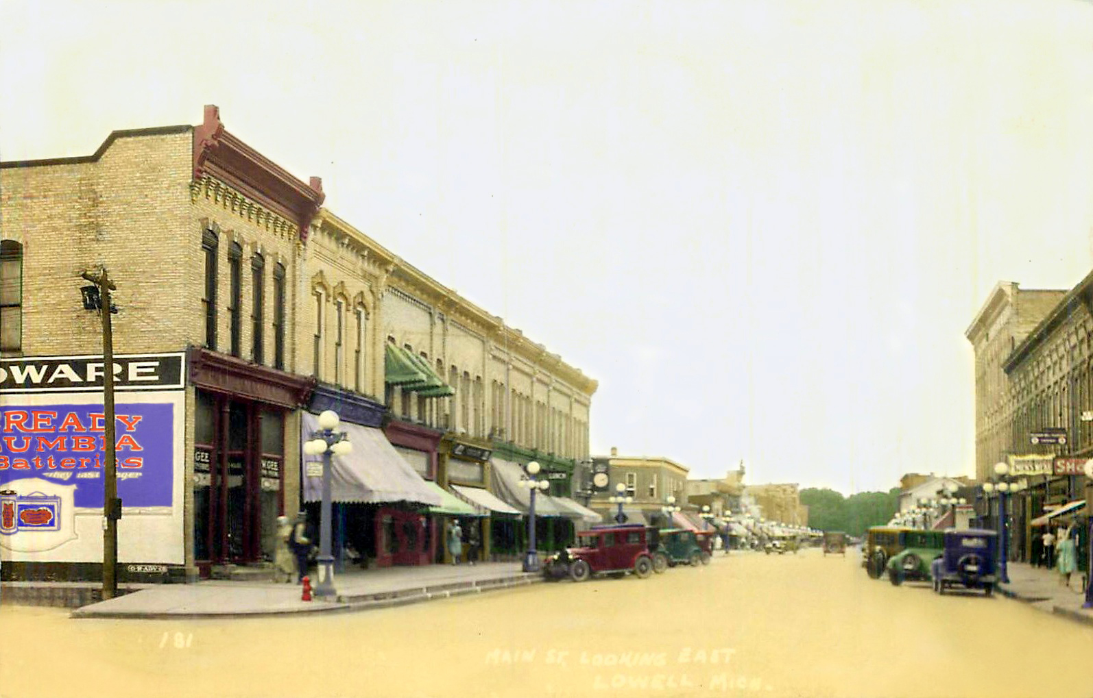 1930 Main Street Looking East (The New Lowell Arts Council Building on the Left) LOWELL Michigan