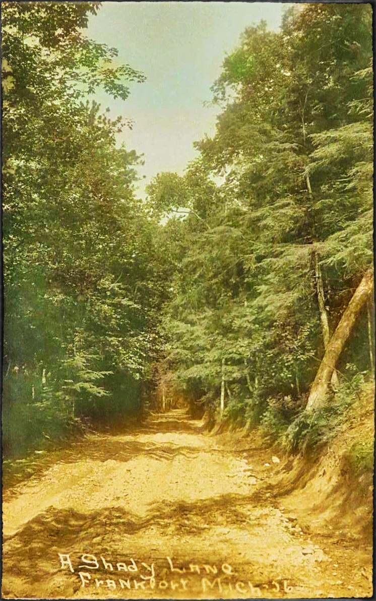 1930s A Shady Lane, Frankfort, Michigan