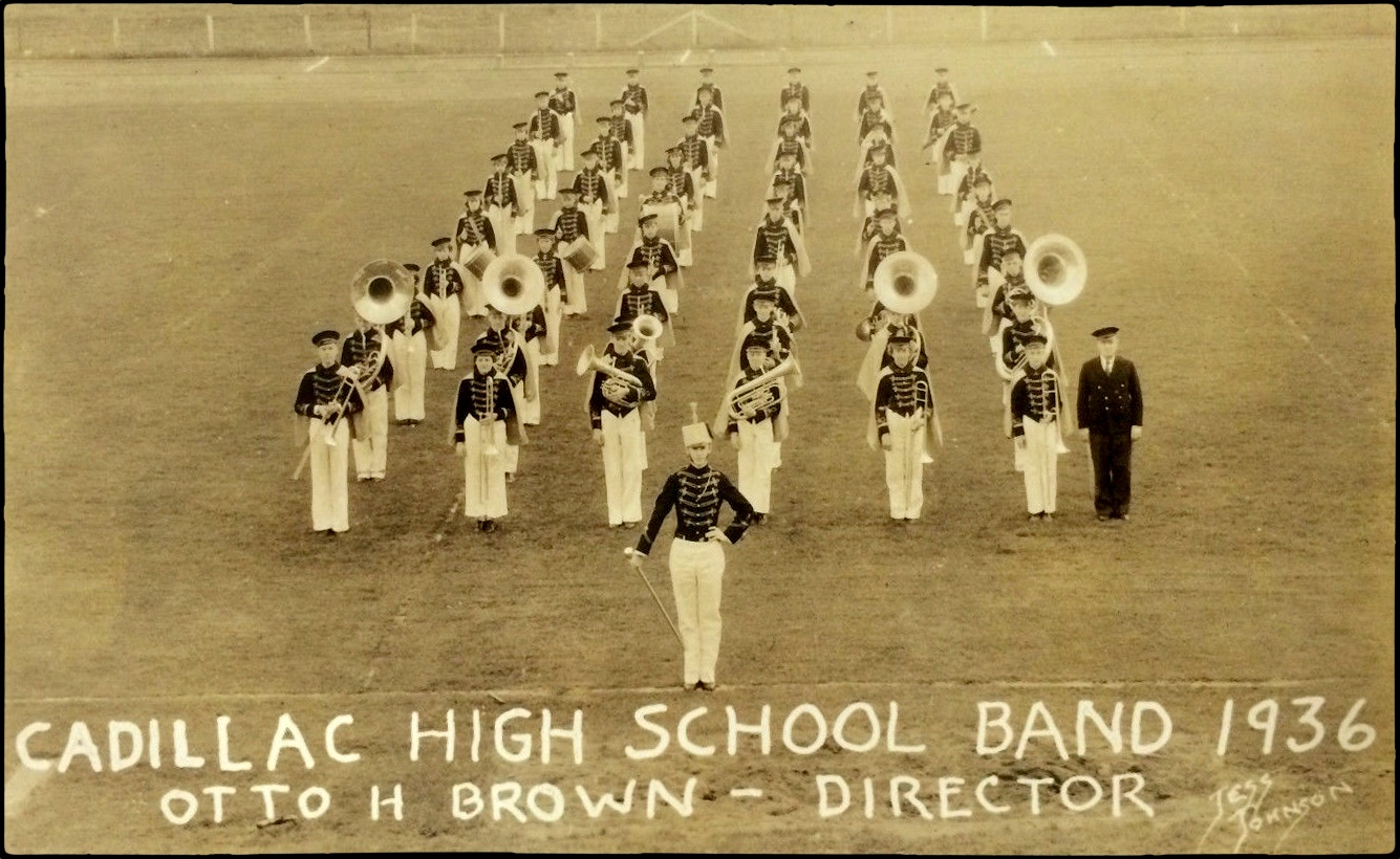 1936 Cadillac High School Band Cadillac Michigan