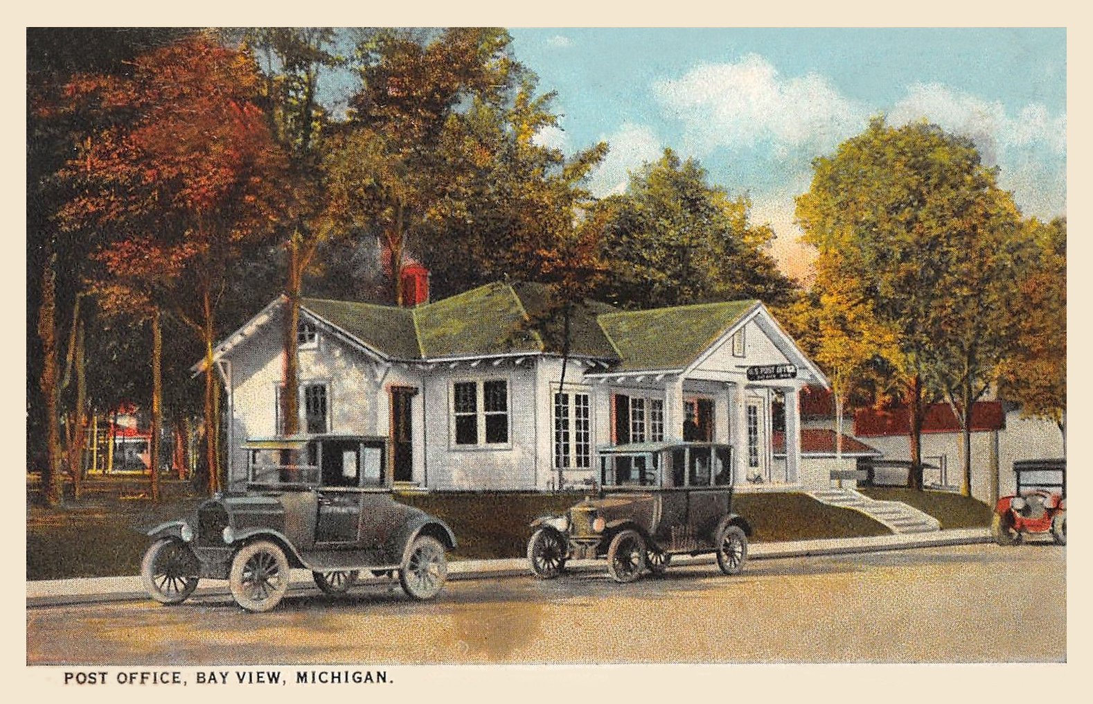 Bay View Michigan Post Office 1928