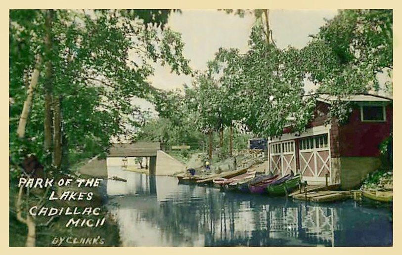 Boat House, Park of the Lakes, Cadillac, Michigan 1923