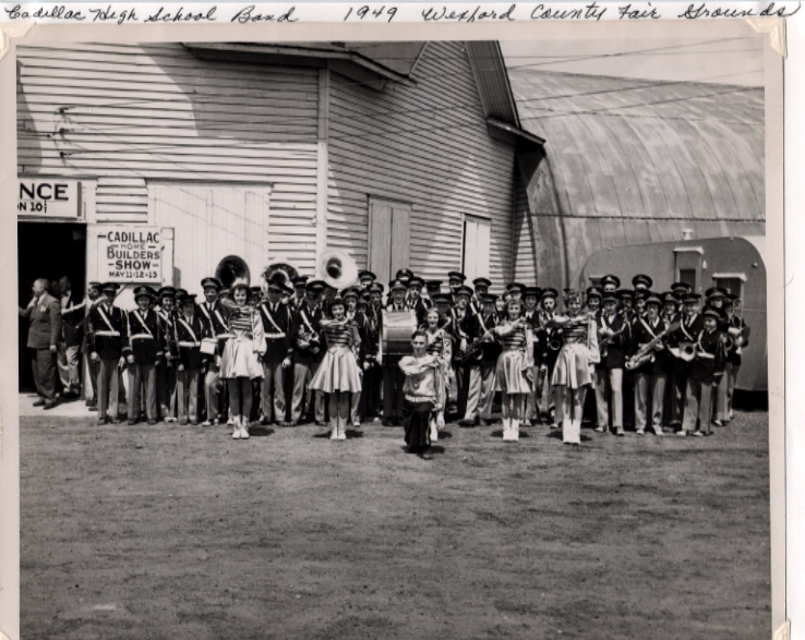 Cadillac High School Marching Band 1949