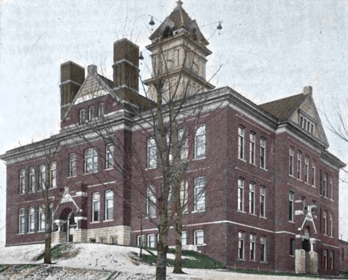Cadillac High School in 1900