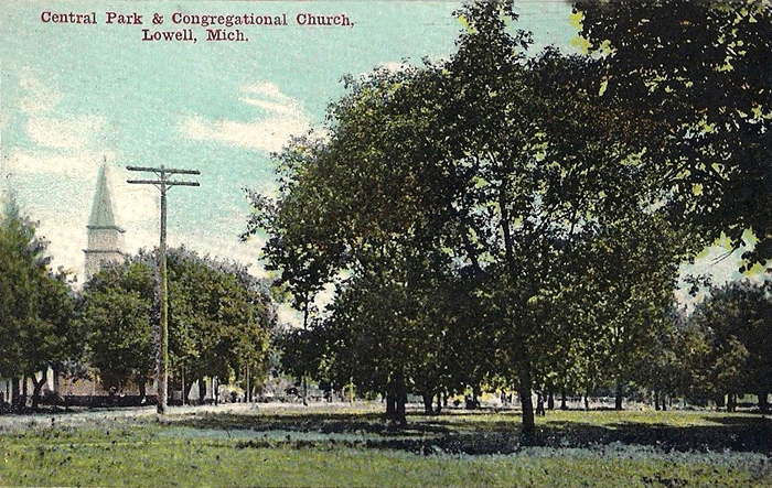 Central-Park-&-Congregational-Church-Richards-Park-Lowell-Michigan