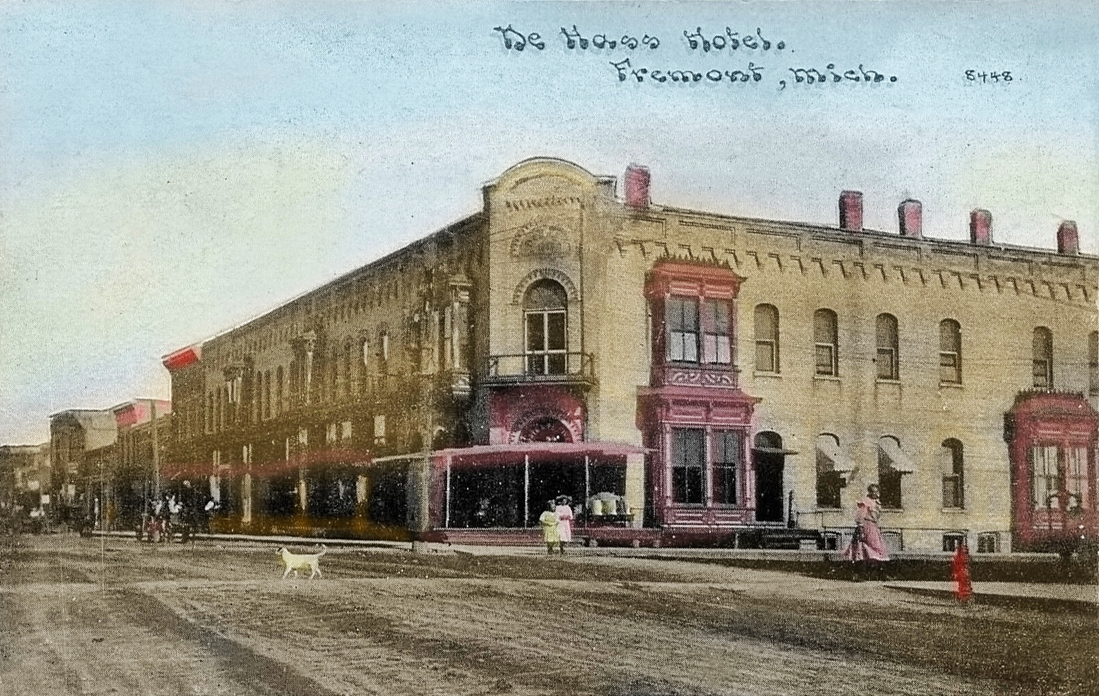 FREMONT Michigan De Hass Hotel 1910 Newaygo County