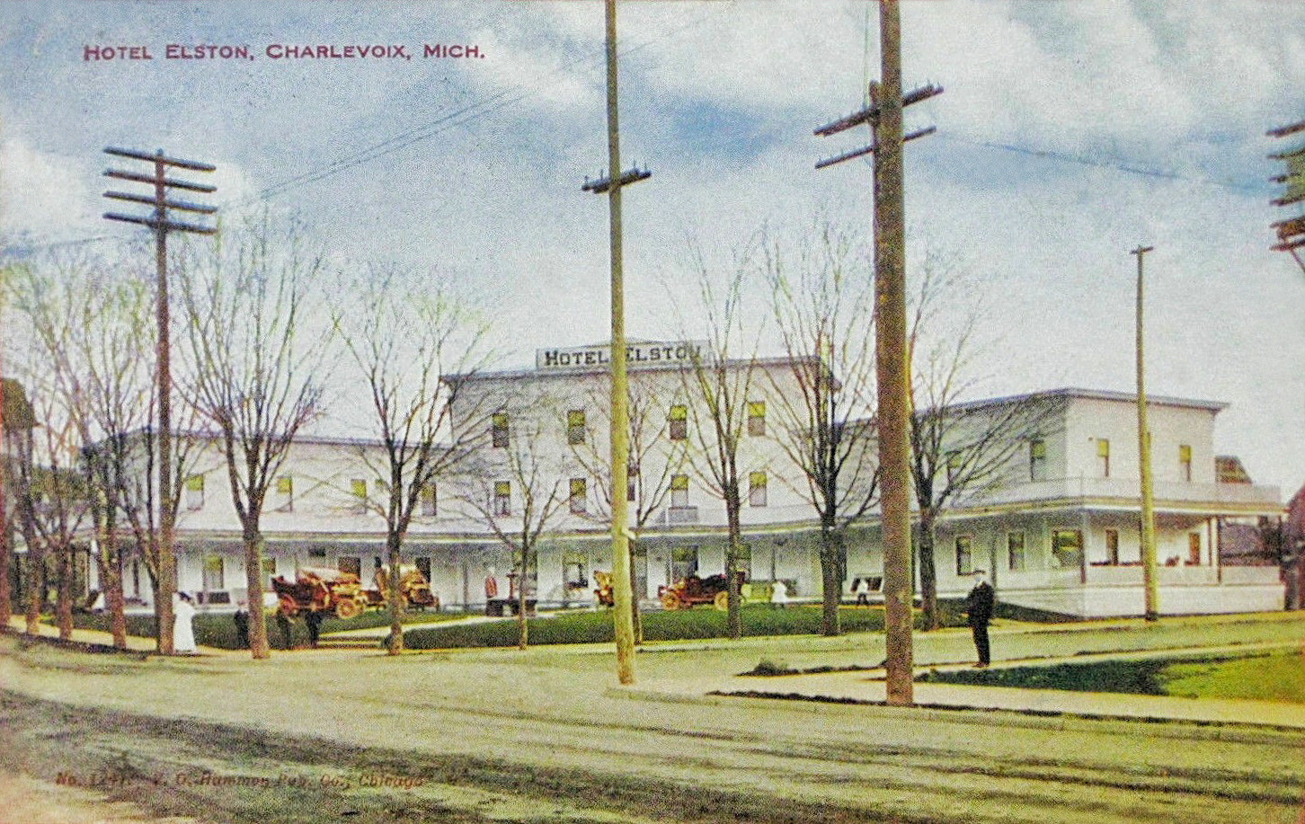 HOTEL ELSTON 1908-CHARLEVOIX MICHIGAN