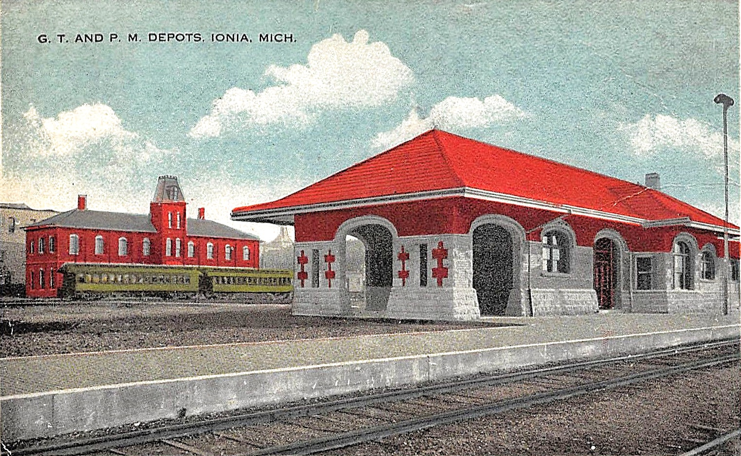 IONIA Michigan Ionia County GTR & PM train station depot