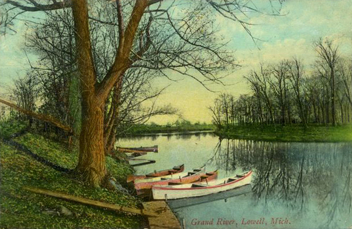 Lowell-MI-Grand-River-Early-1900s