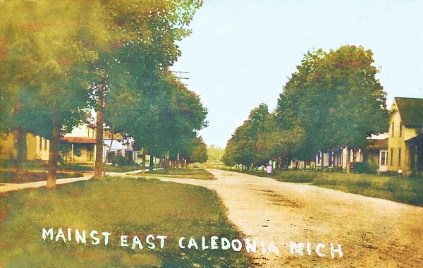 Main-Street-East-Caledonia-Mich-1910