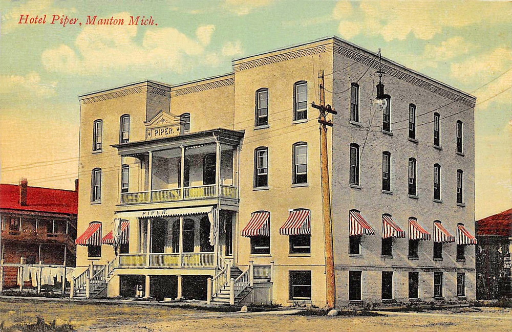 Manton Michigan Hotel Piper Building 1908