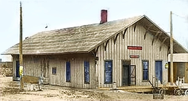 Caledonia, Michigan Depot - West Side-South End, around 1910