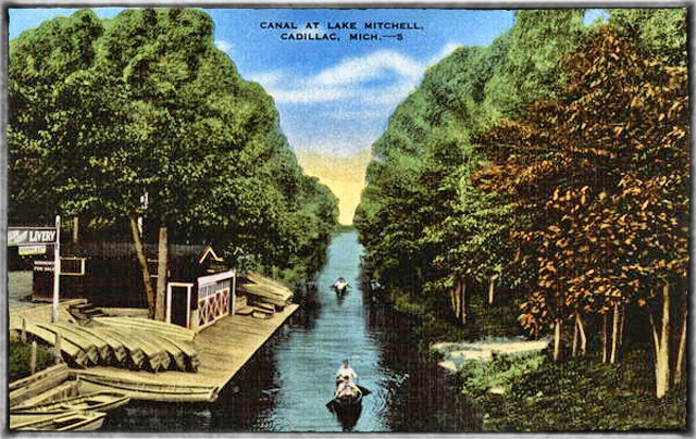 Canal at Lake Mitchell Cadillac Michigan