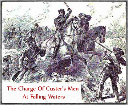 Charge Of Custer's Men At Falling Waters