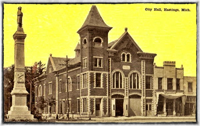 Hastings City Hall in 1910