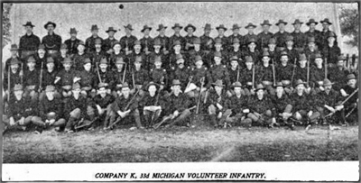 HISTORY OF COMPANY K, 33rd Michigan Volunteer Infantry