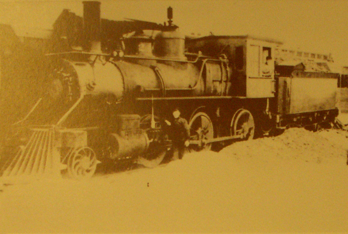 Image of the Pere Marquette Train the came in south from the Elmdale, Michigan to Freeport, Barry County, Michigan