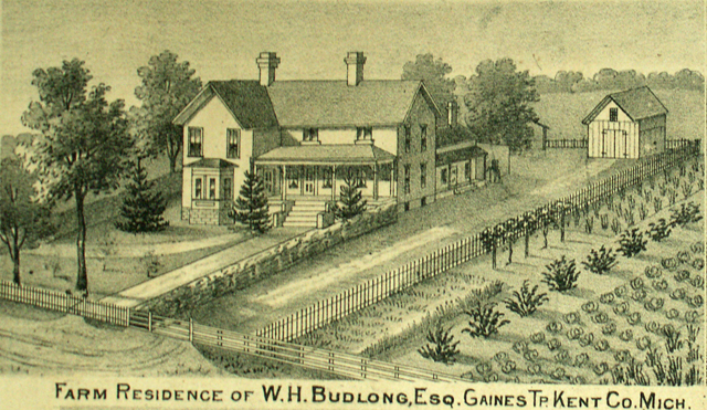 Farm Residence of W. H. Budlong Gaines Township Michigan Kent County