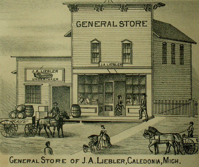 General Store of J. A. Liebler Caledonia Michigan Kent County