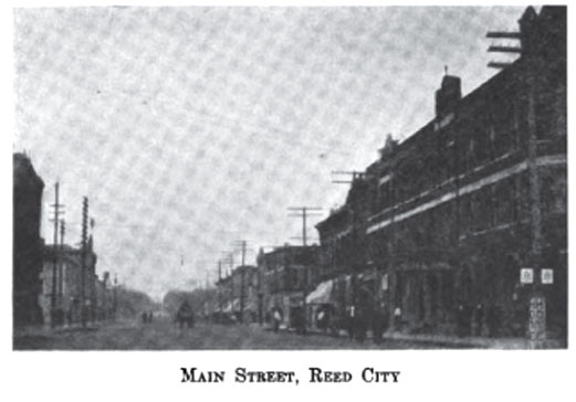 Image of Reed City, Michigan in 1910