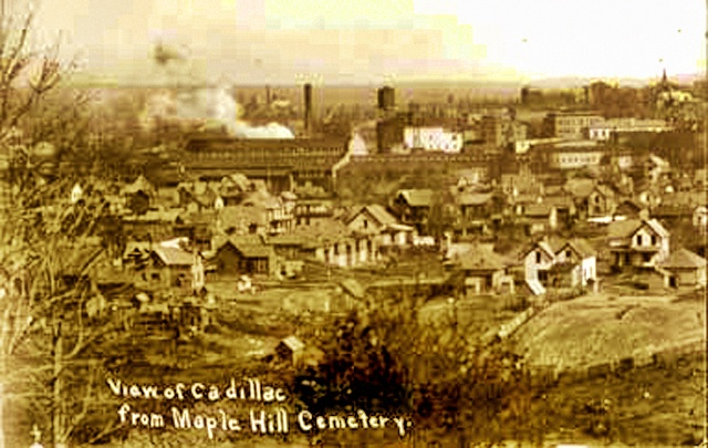 View from Maple Hill Cemetery, Cadillac, Michigan